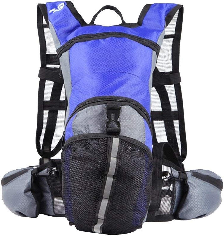 LISAWEI Fahrradrucksack Im Freien Sport Bergsteigen Mnner Und Frauen Radfahren Marathon Offroad Laufen Wasserbeutel Rucksack (Farbe   Blau)
