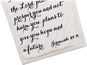 Scripture Throw Blanket for Baby or Children | Jeremiah 29:11 | Best Boy or Girl Shower or Birthday Gift | Ivory on Ivory Fleece Sherpa