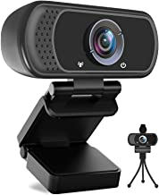 Avater HD Webcam 1080P with Microphone, PC Laptop Desktop USB Webcams 110-Degree Widescreen Web Camera with Rotatable Cli...