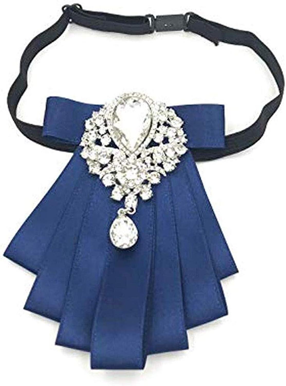 Crystal Bow Tie Ribbon Bowknot Bow Tie Pre Tied Neck Tie Tuxedo Banquet Cravat