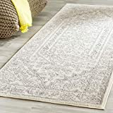 Safavieh Adirondack Collection ADR108B Ivory and Silver Oriental Vintage Medallion Area Rug (2'6' x 4')