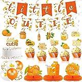 66 Decoraciones de Baby Shower de Mono Pequeño Pancarta Little Cutie Centro de...