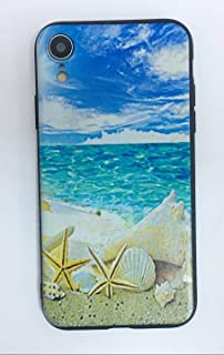 Beach and Seashells iPhone Case for iPhone XR,Soft Silicone TPU Shock Absorption Bumper Protective Case for iPhone XR 6.1 inch (2018 Release)