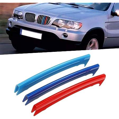 Tuqiang 3 Farben 3d Motorsport Frontgrill Zierleisten Grill Cover Dekoration Aufkleber Für X5 E53 1999 2003 8 Gitter Auto