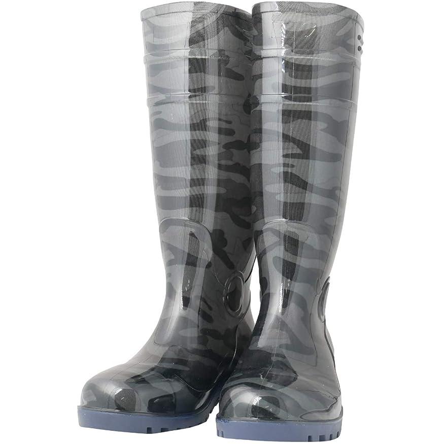 膨らみコンセンサス宿泊施設ワークスタイルエース 先芯入り 耐油底安全長靴 迷彩グレー 29.0cm WS3200