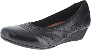 Rockport Cobb Hill Collection Women's Cobb Hill Judson Perf Pump Black Leather 6 M US