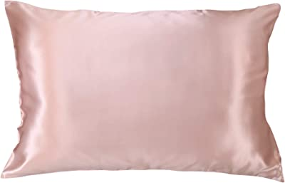 Celestial Silk 100% Pure Mulberry Silk Pillowcase Premium 25 Momme for Hair and Skin Charmeuse Silk on Both Sides of Cover -Gift Wrapped- Hidden Zipper Closure (Standard, Vintage Pink)