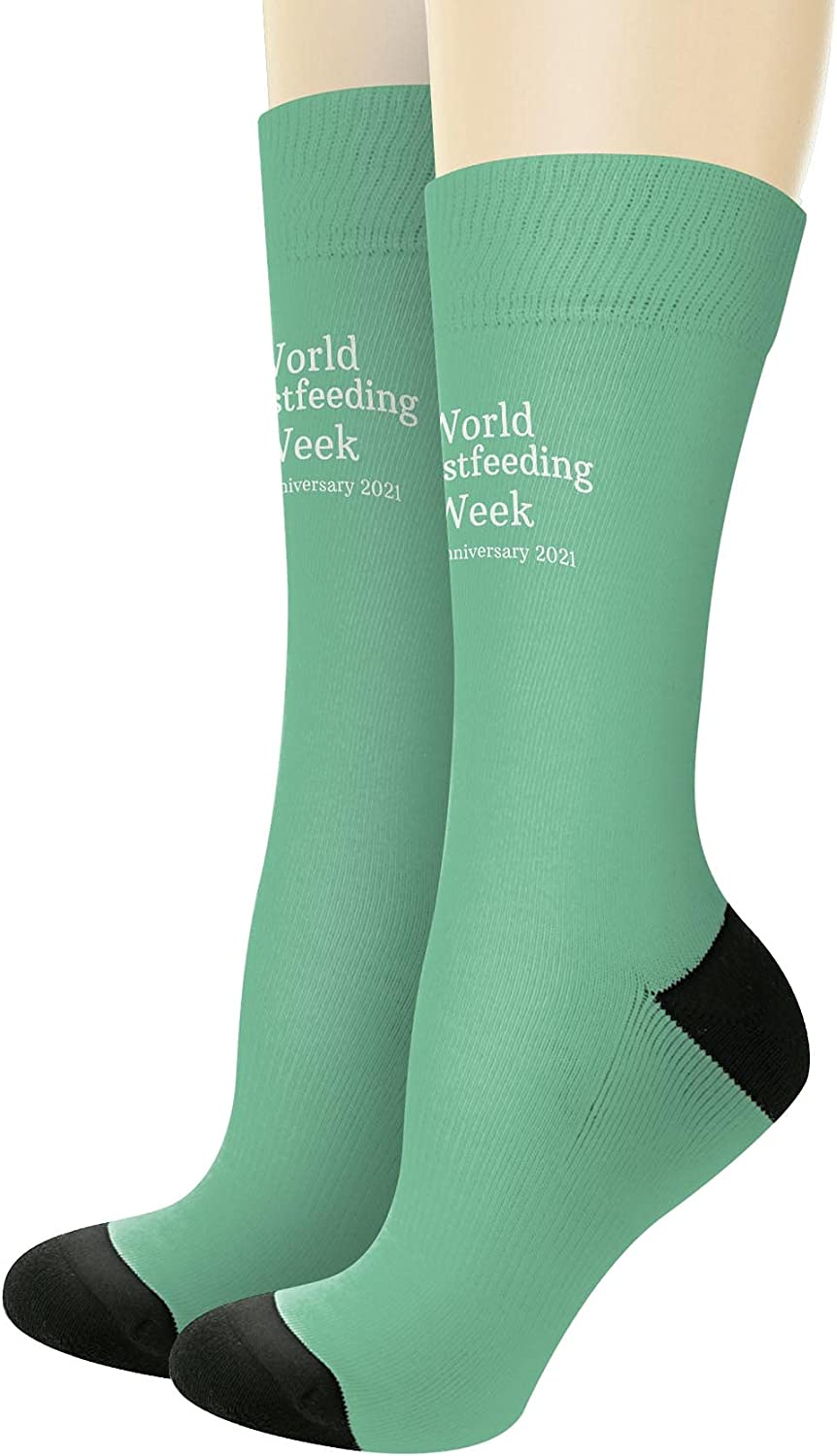 World Breastfeeding Week 30th Anniversary Don't miss the campaign Novelty Crew cheap 2021 Sock