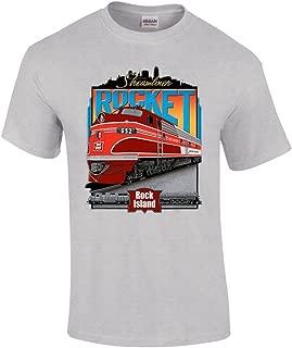 Rock Island Rocket Authentic Railroad T-Shirt Tee Shirt
