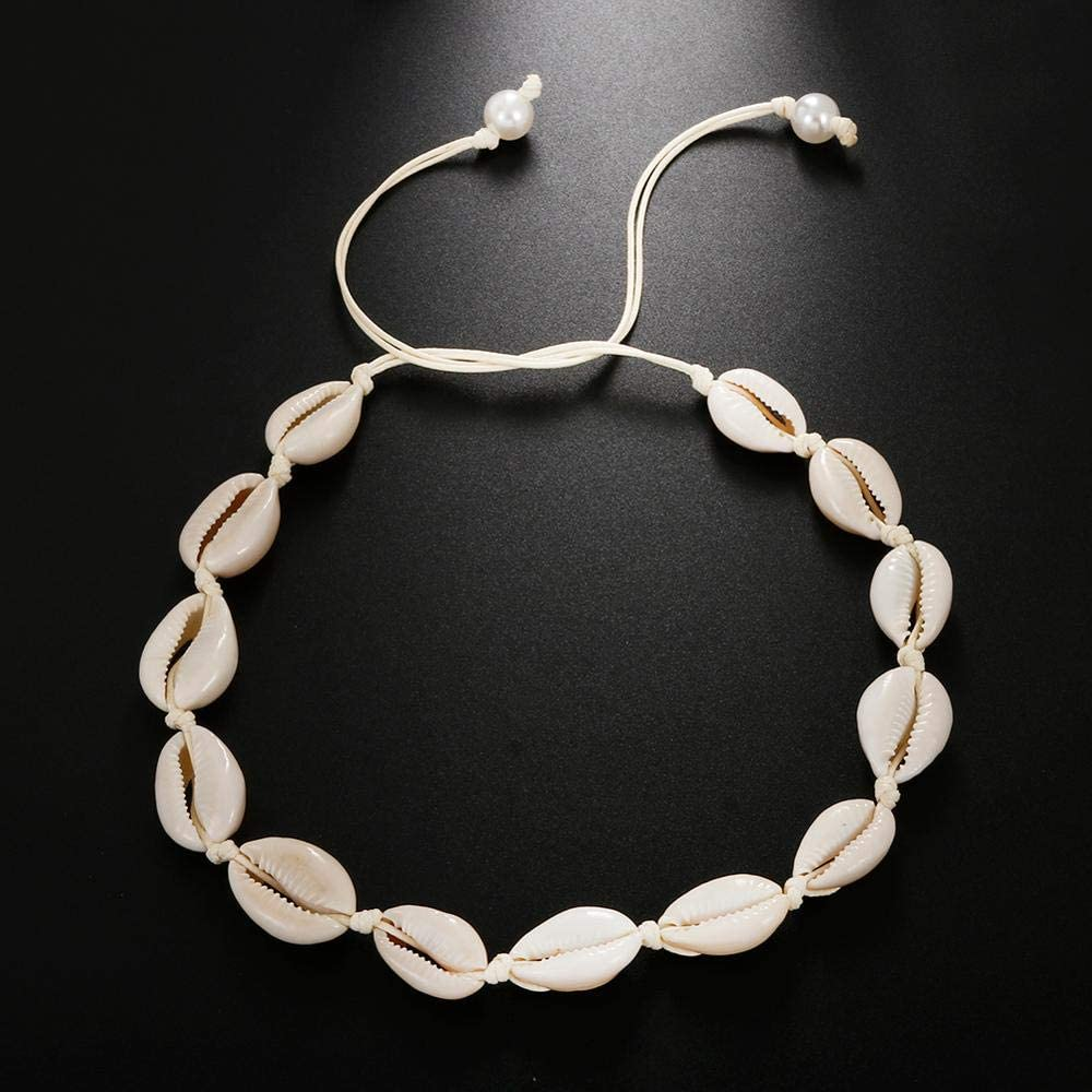 SHIYONG Conch Seashell Necklace Women Jewelry Beach Shell Choker Cowrie Beaded Necklaces Handmade Collar Female