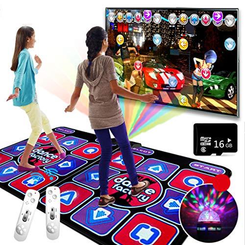 BAOYUANWANG Tanzteppich, TV Spiele Doppel Dancing Machine somatosensorischen Spiel drahtloser Handgriff-Yoga-Matten-Laufen Dual-Use-buntes Lichts