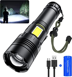 JODK Rechargeable Led Flashlight High Lumens, 9000 Lumens XHP70 Super Bright Handheld Tactical Flashlights with 7 Light Mo...