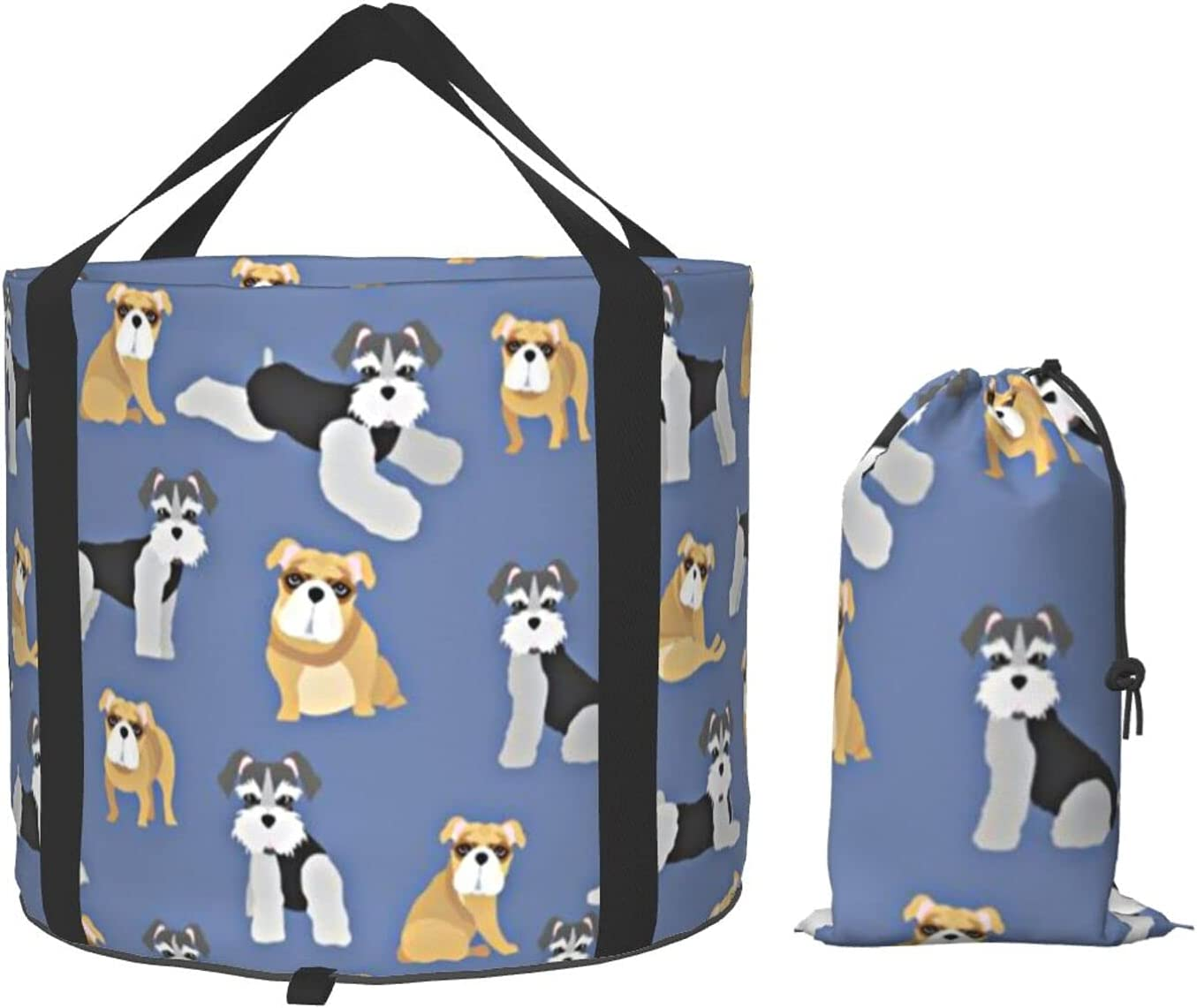 Multifunctional Portable Collapsible price Bucket Pug Face F Quantity limited Schnauzer