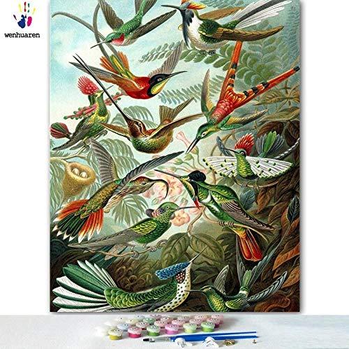 SiJOO Ausmalbilder mit digitalen DIY-Zeichnungen mit Vögeln, die in Gruppen fliegen