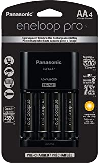 Panasonic Eneloop Pro Individual Cell Battery Charger with 4 AA 2550mah Ni-MH Rechargeable Batteries