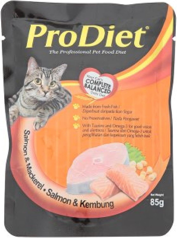 ProDiet Cat Food 85g (628MART) (Salmon & Mackerel, 9 Pack)