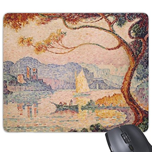 DIYthinker Boom Lake Boot Abstract Olie Scholen Van Impressie Schilderen Rechthoek Antislip Rubber Mousepad Game Mouse Pad Gift