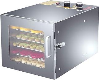 6 Tray Food Dryer Dehydrator, 600W Commercial Food Dehydrator Machine, 35-75° Temperature Adjustable, for Fruit Veg Fish B...