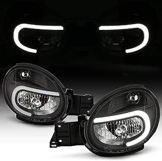 ACANII - For 2002-2003 Subaru Impreza Outback WRX RS TS Black Housing LED Tube Headlights Headlamps Assembly Left+Right