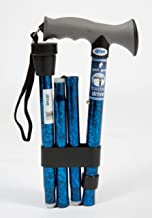 Drive DeVilbiss Healthcare Folding Walking Stick. Soft Grip Gel Handle. Folds into 4 convenient parts for easy storage. Hard wearing, non slip ferrule provides stability on various surfaces.
