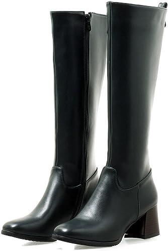 Sandalette-DEDE Bottes de Bruts européens et américain, Confort, Les Bottes à Talons et Haut Tube, Bottes,Vert Militaire,Quarante - Quatre