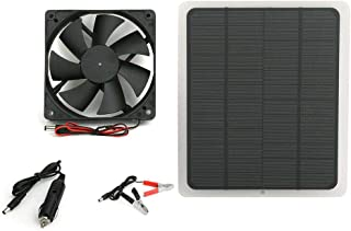 20W Solar Energy Cell Plate Fan Minitype Ventilator Used For Dog Chicken House Greenhouse RV