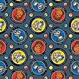 Star Wars Fabric S.W. 1st Resistance Crew in Blue Premium Quality Cotton Fabric by The Yard
