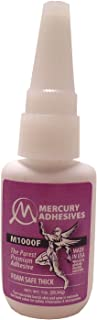 Mercury Adhesives M1000F 1oz (Foam Safe THICK CA)