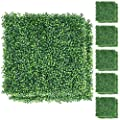 Yaheetech 12/24/36/48 Pieces Artificial Boxwood Hedge Panel Plant Decorative Garden Fence Screen Greenery Walls Outdoor Indoor Green 20 x 20 inch 2