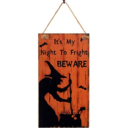 Wall hanging sign//picture Halloween Wicked Witches Coffee House Scary Spooky