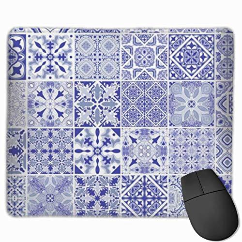 Traditionelle verzierte portugiesische dekorative fliesen azulejos fliese vintage mauspad rutschfeste gummi gaming mauspad rechteckige mauspads für computer desktops laptop