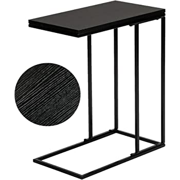 SoSo-BanTian1989 Reclaimed Wood Look Finish Snack Side End Table (Black)