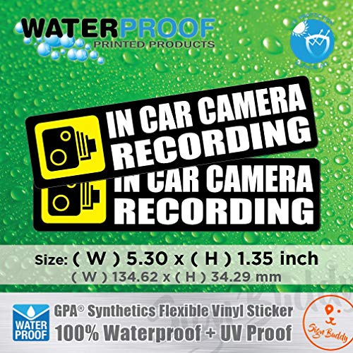 AllWeather (Pack of 2 pcs) in Car Camera Recording Sticker Dash Cam on Board Video Bumper Baby Decal