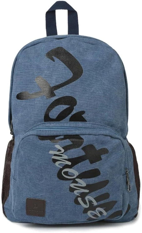 b8deabb79711 Men Canvas Bag Casual Schoolbag Travel Bag,bluee Backpack Laptop ...