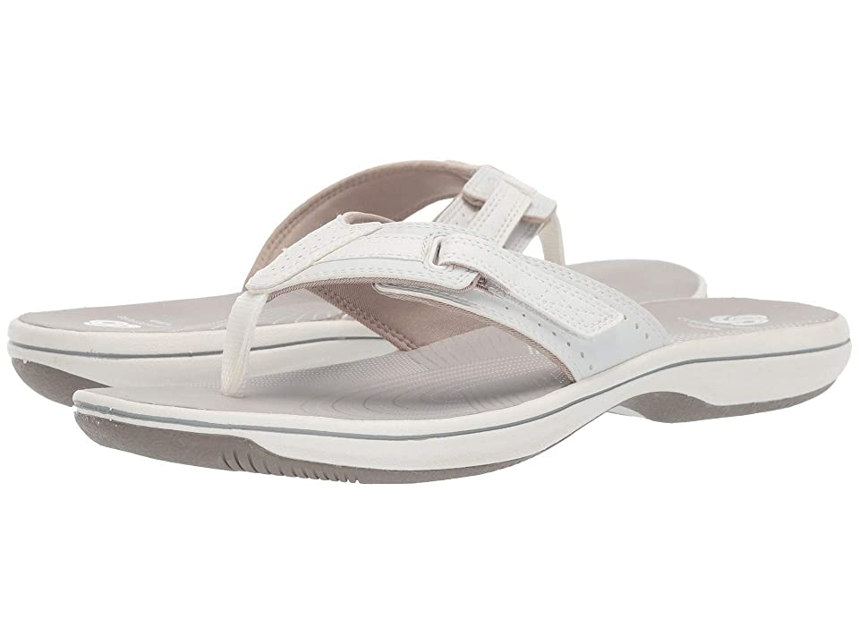 1c89551b7906 Clarks Brinkley Reef Boxed (White Synthetic) Women
