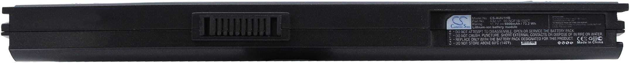 Cameron Sino Replacement Battery Asus Eee PC 1004, Eee PC 1004DN, N10E, N10E-A1, N10J, N10J-A1, N10J-A2, N10Jb, N10Jc, N10JC-A1, N10Jh, U1 (6600mAh)
