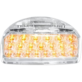 Grand General 77231 Amber 31-LED Peterbilt Headlight Turn Signal Sealed Light with 3 Wires for Front/Park/Turn Functions and Clear Lens