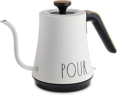 Rae Dunn Electric, Gooseneck Kettle, Electric Kettle with Dry Boil Protection, 1 L Capacity, 1000 Watt (Cream)