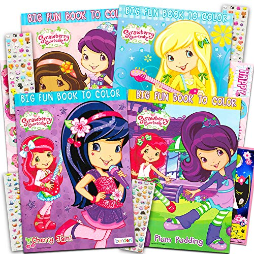 - Strawberry Shortcake Coloring Book Super- Buy Online In Colombia At  Desertcart