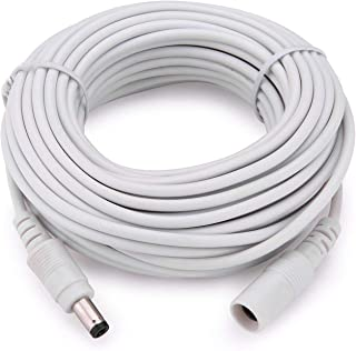 Anlink Power Extension Cable 33Ft 10 Meters 2.1mm x 5.5mm Compatible with 12V DC Adapter Cord for CCTV Security Camera System NVR DVR and Standalone IP Camera(White)