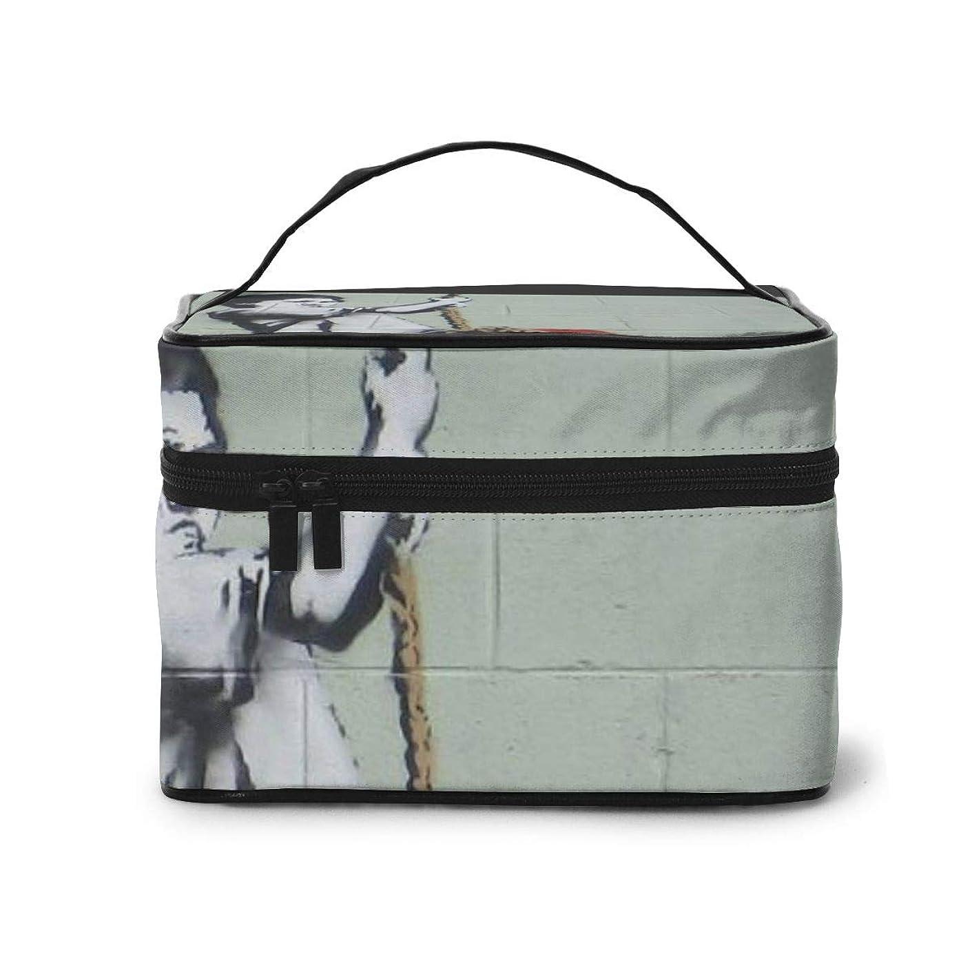 ストレスの多い望ましい一部メイクポーチ 化粧ポーチ コスメバッグ バニティケース トラベルポーチ Banksy バンクシー 雑貨 小物入れ 出張用 超軽量 機能的 大容量 収納ボックス