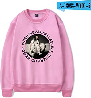 Picess Store Billie Eilish Sweatshirt Sweater I Dont Wanna Be You Anymore Cotton Merch Blohsh for Women Mujer Lovely Auturm 13 Reason Why