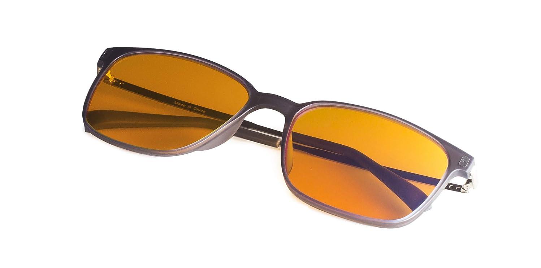 Block Blue Light Reading Glasses-Orange Lens Readers-Women-Large Square Lightweight Frame