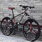 RLF LF Vélo VTT Homme Femme, Vélos De Ville City Bike Bikes Vélo Trekking Vélo De Montagne 26 Pouces 24 Vitesses pour Adulte, Cadre À Suspension Intégrale en Aluminium Léger,A,26 inch