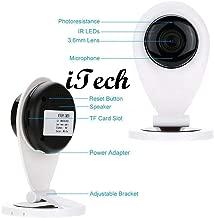 iTech IP Camera 720p HD WiFi Indoor Security Surveillance Wireless Night Vision Camera