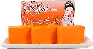 Kojic Original Kojic Acid Skin Lightening Soap Pack of 3 x 135 grams