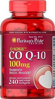 Puritans Pride Qsorb辅酶Q10 100mg 快速释放软胶囊,240粒