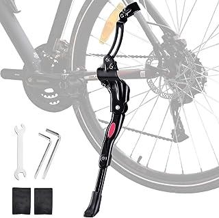自転車 キックスタンド Oziral片足 スタンド 二点固定 長さ調節可能 26インチ~700C対応 軽量 便利 簡単取り付け 六角ツール付き ロードバイク ロスバイク マウンテンバイ MTB 日本語取付説明書