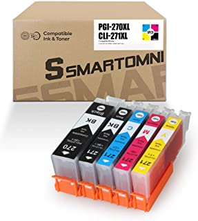 S SMARTOMNI Compatible Ink Cartridge Replacement for Canon PGI-270XL CLI-271XL Ink Color 5-Pack (2K/1C/1M/1Y) Set for Cano...