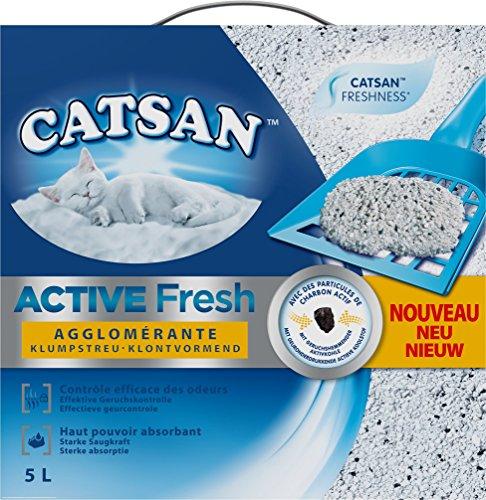 Catsan Active Fresh Lettiera Agglomerante per gatto–Controllo degli odori–5L
